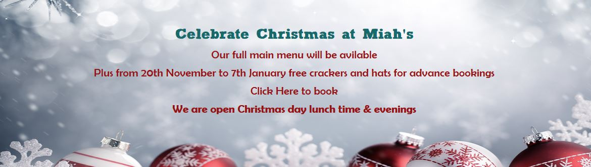 Book your Christmas party at Maihs